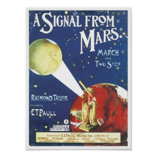 A Signal From Mars Vintage Songbook Cover Posters