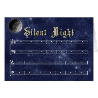 A Silent Night Christmas card