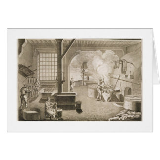 A silk dyer's workshop, from the 'Encyclopedie des Card