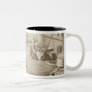 A silk dyer's workshop, from the 'Encyclopedie des Two-Tone Coffee Mug