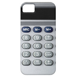 A silver calculator iPhone 5 covers