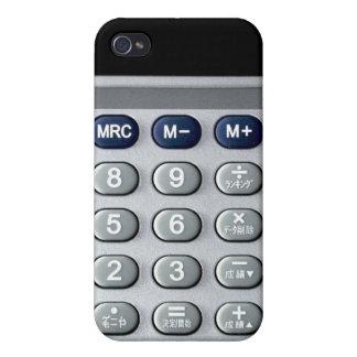 A silver calculator iPhone 4/4S case