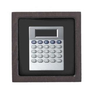 A silver calculator jewelry box