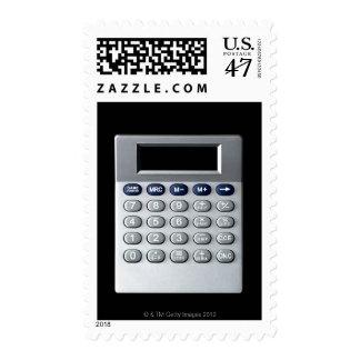 A silver calculator postage