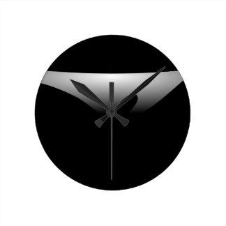 A Silver Dish Round Wall Clocks
