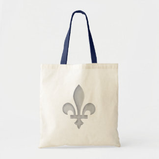 A Silver Fleur-de-lys Canvas Crafts & Shopping Bag