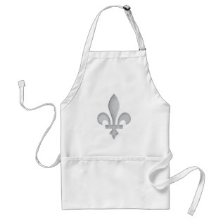 A Silver Fleur-de-lys Crafts Cook Chefs Apron at Zazzle