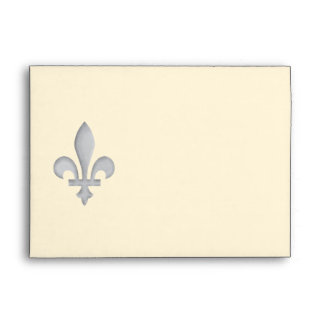 A Silver Fleur-de-lys Envelope