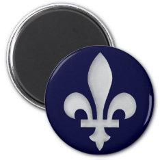 A Silver Fleur-de-lys Magnet at Zazzle