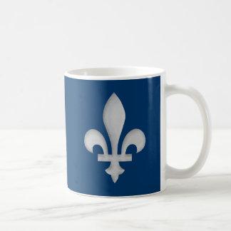 A Silver Fleur-de-lys Mug On Blue Background