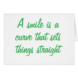 A simile is a curve greeting card