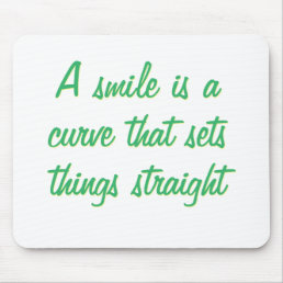A simile is a curve mouse pad