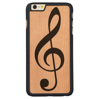 a simple black musical note (music symbol) carved® cherry iPhone 6 plus case