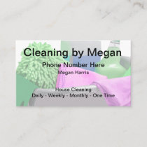 A Simple Cleaning Service Design Business Card