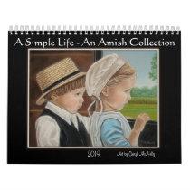 """A Simple Life"" An Amish Collection  2019 Calendar"