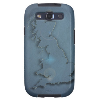 A simple map of the British Isles with sunset Galaxy SIII Case