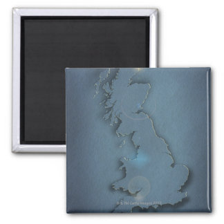 A simple map of the British Isles with sunset Magnet