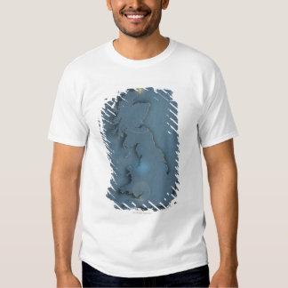 A simple map of the British Isles with sunset T-shirt