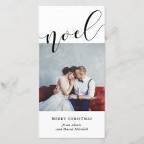 A Simple Noel | Minimalist Modern Typography Holiday Card
