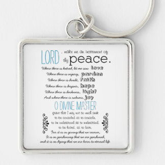 A simple prayer by St.Francis of Assisi Keychain
