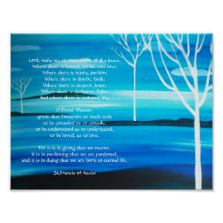 A simple prayer by St.Francis of Assisi Poster