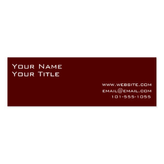 A Simple Retro Business Card in Brown