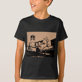 A Simple Sketch of St. Francis Basilica, Assisi T-Shirt