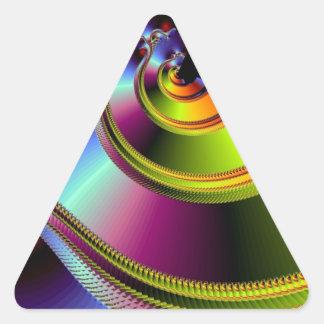A Simple Twist of Fate Triangle Sticker