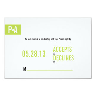 A SIMPLE WEDDING RSVP Invitation