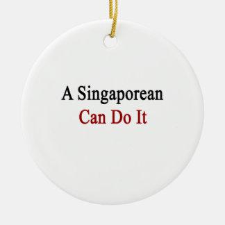 A Singaporean Can Do It Christmas Tree Ornament