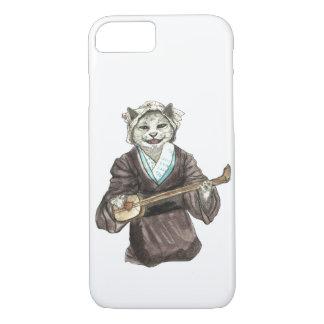 A Singing Cat Playing Samisen iPhone 8/7 Case