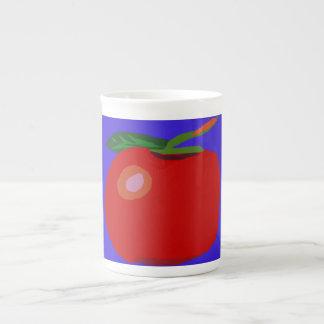 A Single Apple Blue Tea Cup