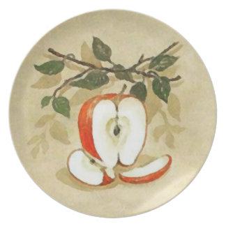 A Single Cut Apple Plate