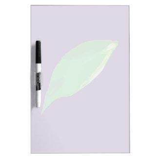A Single Green Leaf Dry-Erase Whiteboard