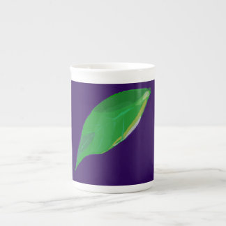 A Single Green Leaf Tea Cup