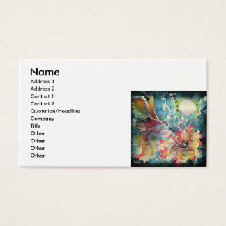 A Single Hummingbird Business Card