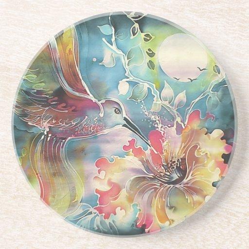 A Single Hummingbird Drink Coaster