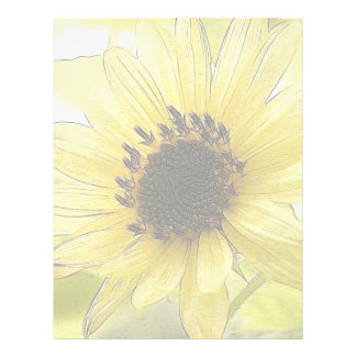 A Single Lemon Yellow Sunflower Letterhead