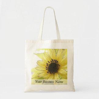 A Single Lemon Yellow Sunflower Tote Bag