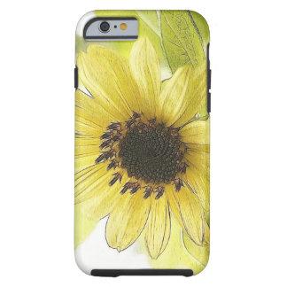 A Single Lemon Yellow Sunflower Tough iPhone 6 Case