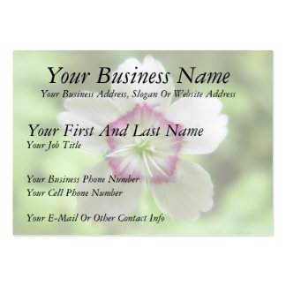 A Single Maiden Pink Flower Large Business Cards (Pack Of 100)
