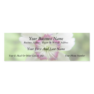 A Single Maiden Pink Flower Double-Sided Mini Business Cards (Pack Of 20)