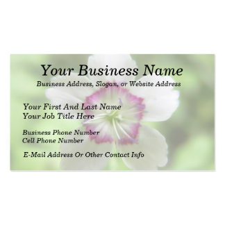 A Single Maiden Pink Flower Double-Sided Standard Business Cards (Pack Of 100)