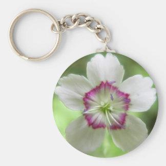 A Single Maiden Pink Flower Keychain