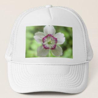 A Single Maiden Pink Flower Trucker Hat