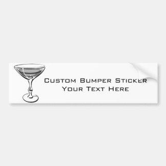 A Single Martini - Grey B&W Bumper Sticker
