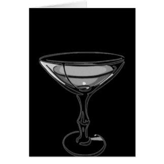A Single Martini - Grey B&W Card