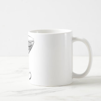 A Single Martini - Grey B&W Coffee Mug