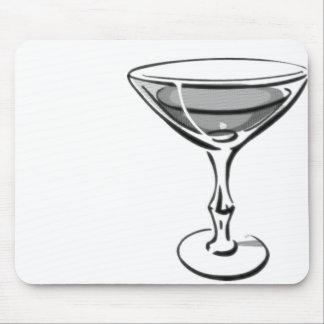A Single Martini - Grey B&W Mouse Pad