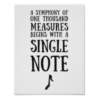 A Single Note Poster